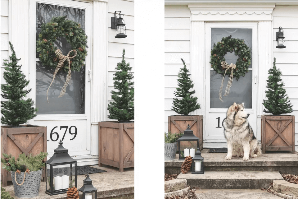 PINE TREES DIY PORCH DECOR IDEAS FOR FALL AND WINTER
