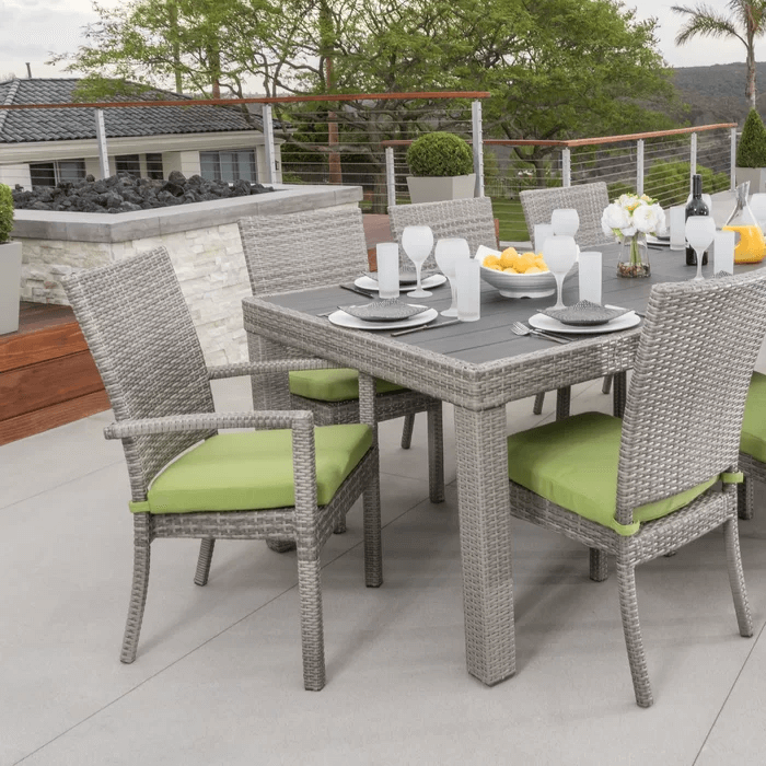 THE BEST PATIO FURNITURE WITH CASTELLI DINING SET WITH CUSHIONS