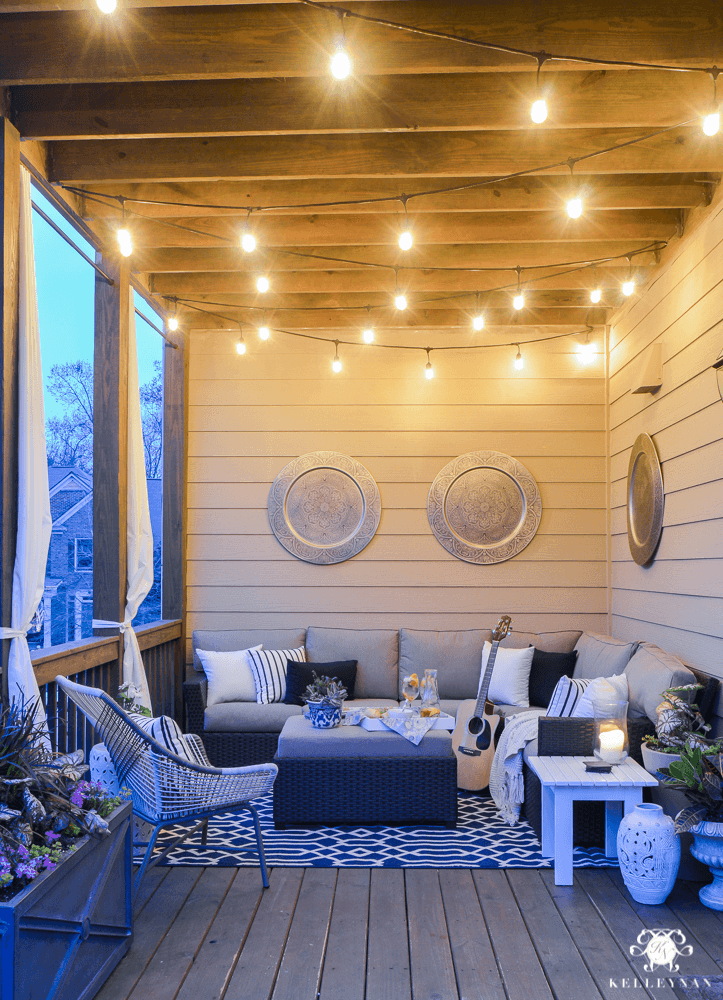 TWINKLE LIGHTS FOR PORCH PARTY DECOR IDEAS
