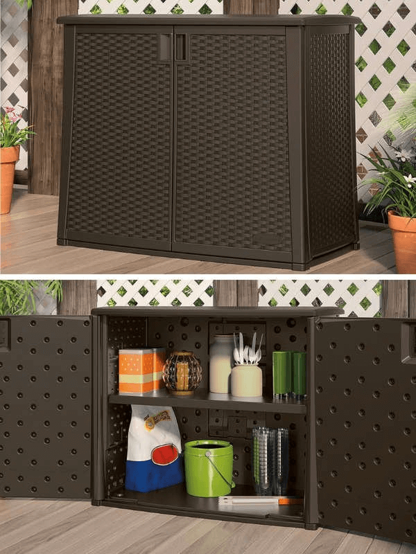 TWO FUNCTIONAL DECK PORCH CABINET STORAGE IDEAS