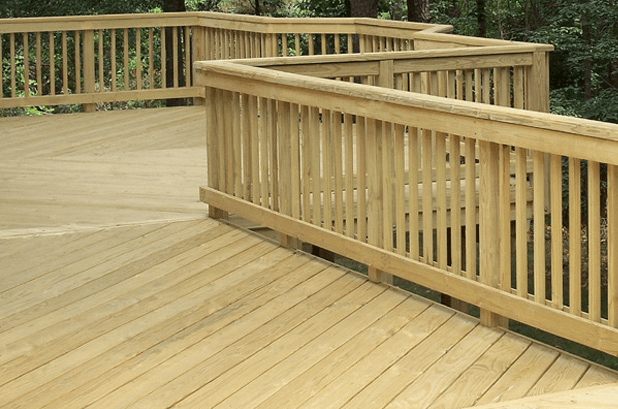 WOODEN LUMBER PORCH RAILING MATERIAL