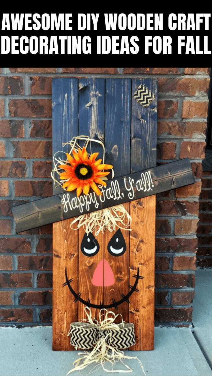 AWESOME DIY WOODEN CRAFT PORCH DECOR IDEAS ON BUDGET FOR FALL WINTER