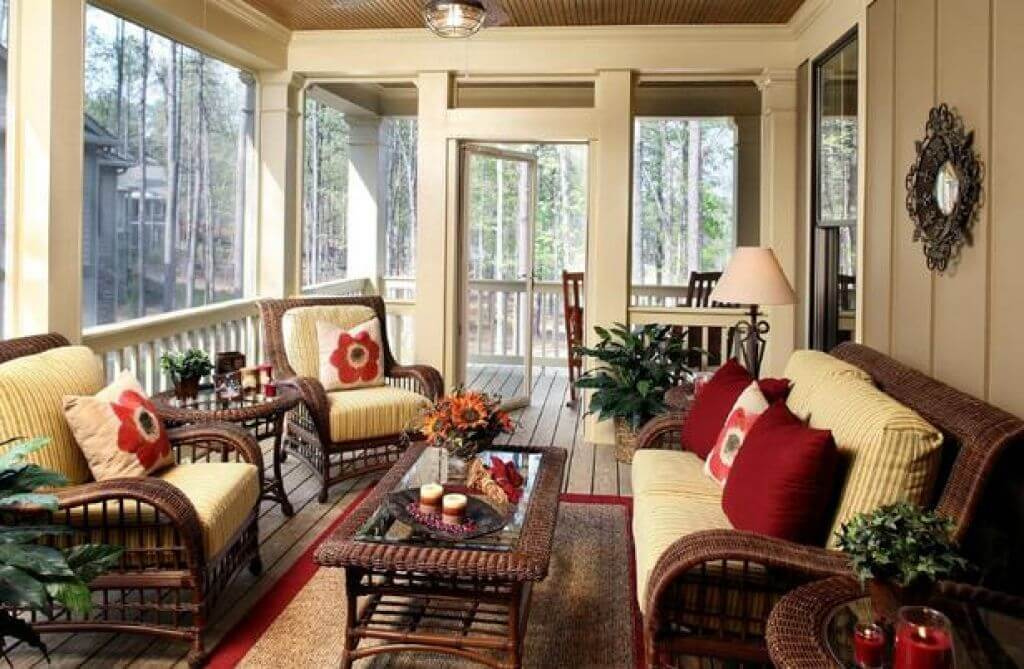 CLASSIC COTTAGE SCREENED IN PORCH DESIGN IDEAS