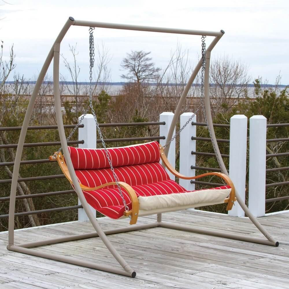 HATTERAS HAMMOCKS EXTRA WIDE METAL PORCH SWING STAND