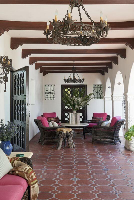 GRAND FRONT PORCH ENTRANCE SEATING IDEAS