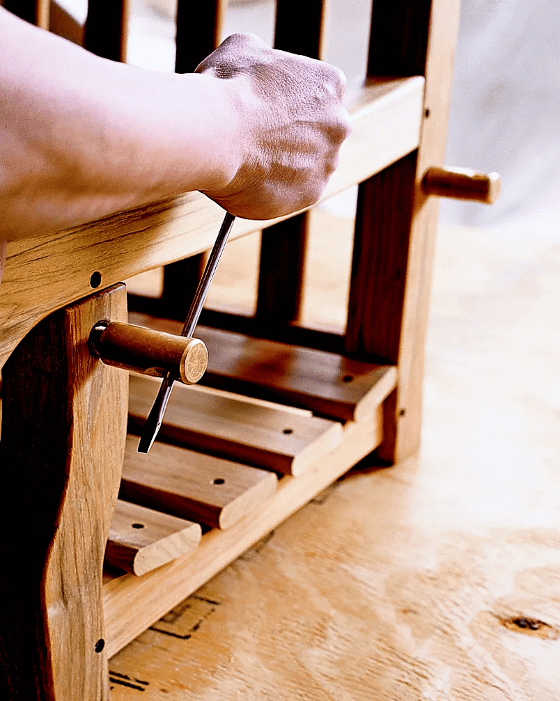 HOW TO INSTALL PORCH SWING SUPPORT BOLTS AND FILL SCREW HOLES