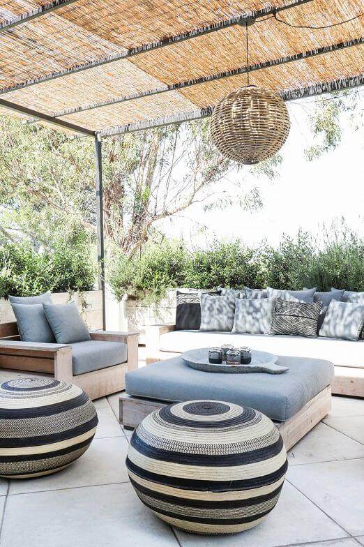 RATTAN ACCENT COVERED TERRACE FRONT PORCH SEATING IDEAS