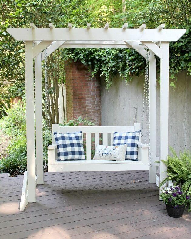DIY PORCH SWING PERGOLA DESIGN IDEAS