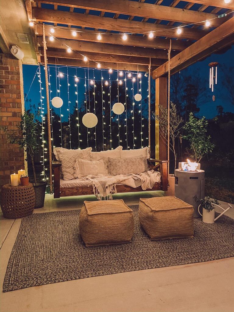 DIY PORCH SWING WITH BED DESIGN IDEAS