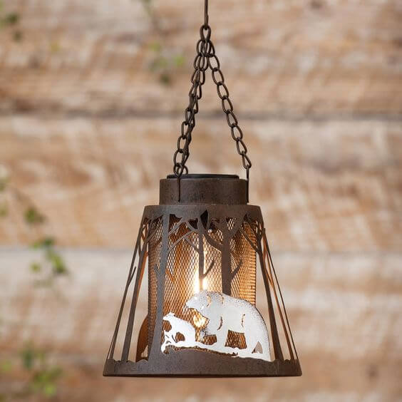 BEAR LANTERN SOLAR PORCH LIGHT IDEAS