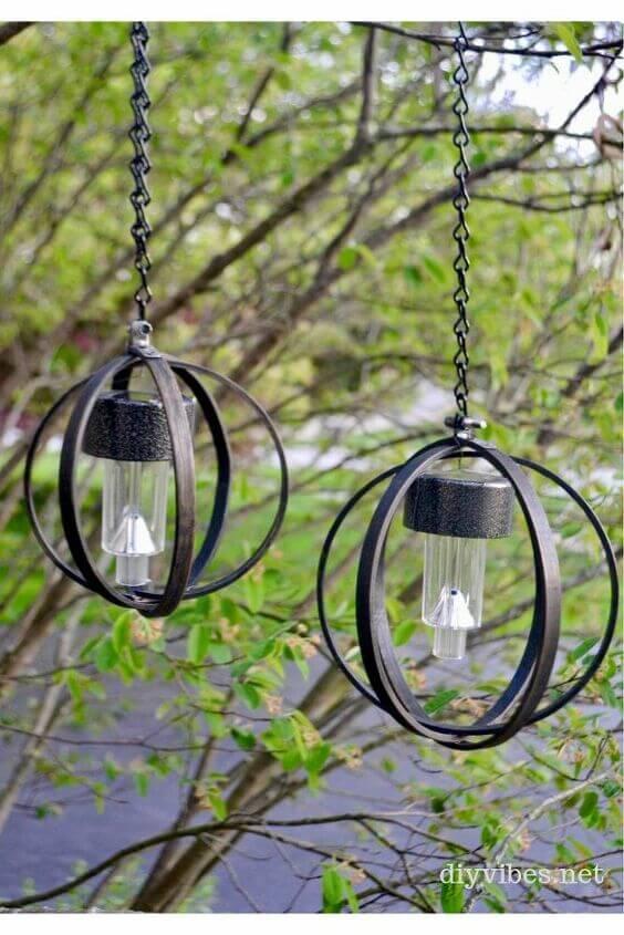 DIY HANGING INDUSTRIAL LAMP SOLAR PORCH LIGHT IDEAS