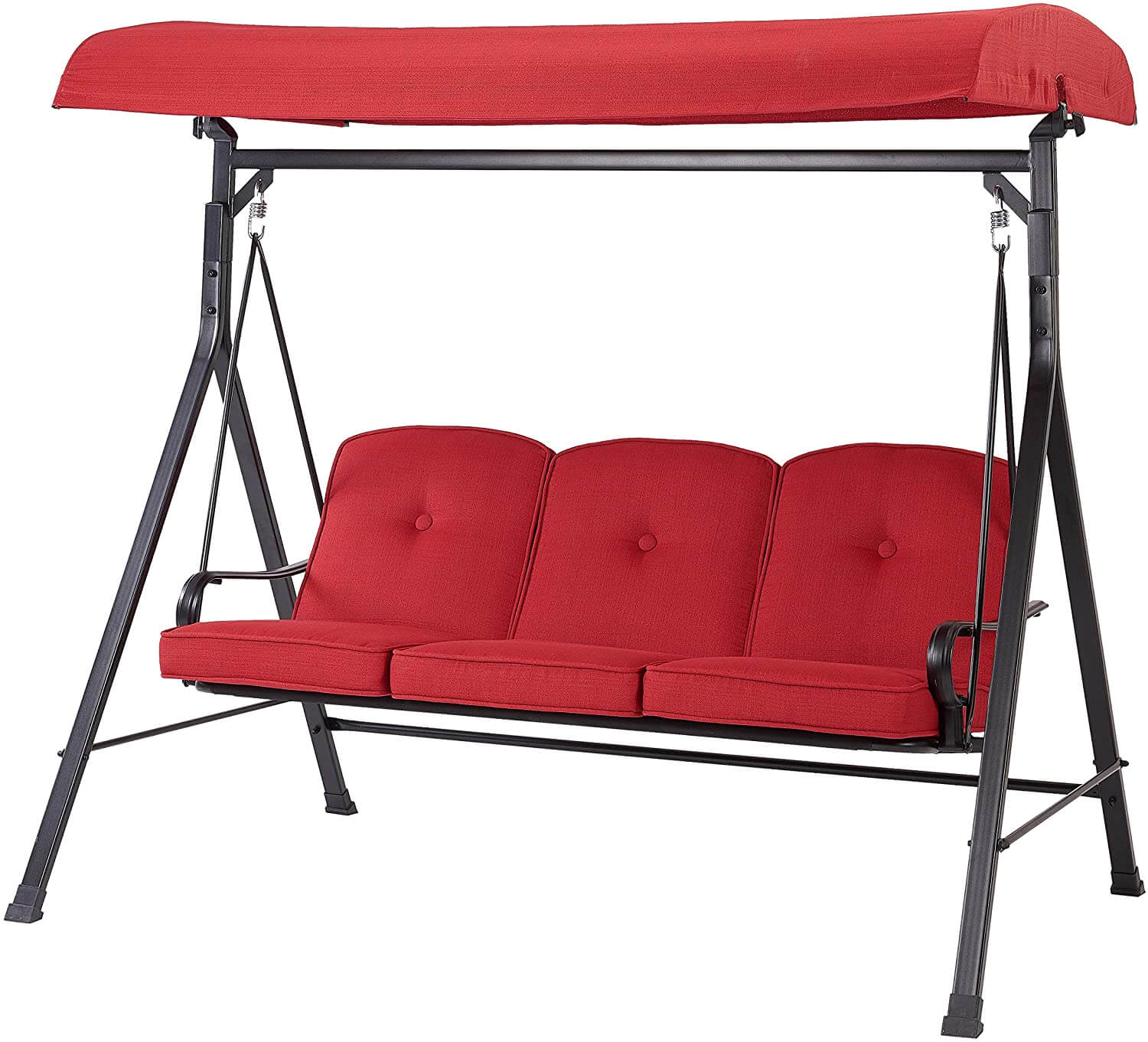 MAINSTAY NEW CALLIMONT PARK 3 SEAT CANOPY PORCH SWING BED REVIEWS
