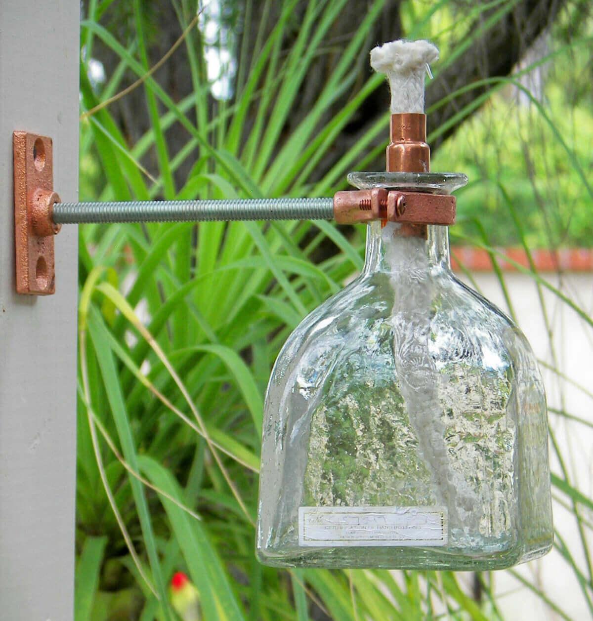 OUTDOOR PORCH IDEAS GLASS BOTTLE LIGHT