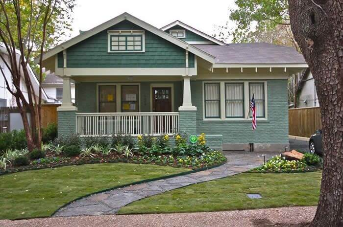 SMALL PORCH PAINT COLOR IDEAS GREEN