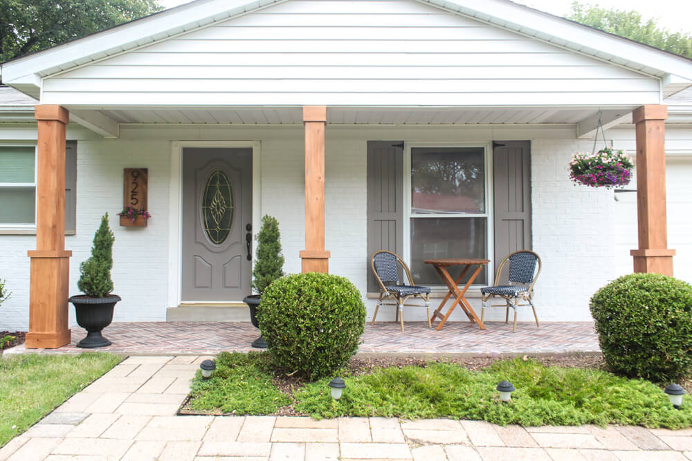 CHANGE THE SHADE FOR PORCH COLUMN MAKEOVER IDEAS AFTER
