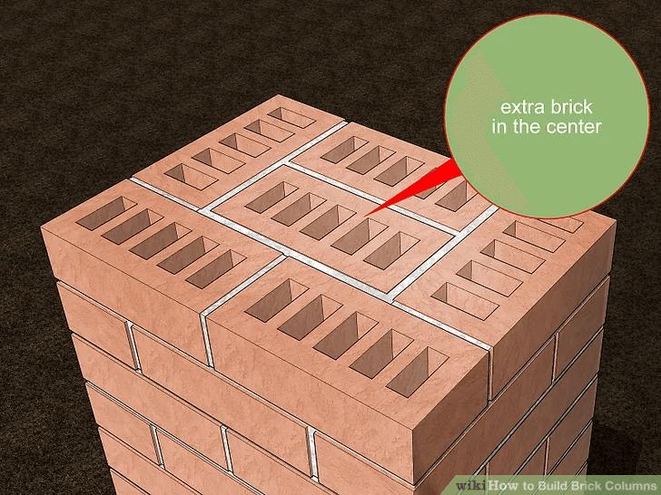 FINAL COURSE HOW TO BUILD PORCH COLUMN LAST BRICK