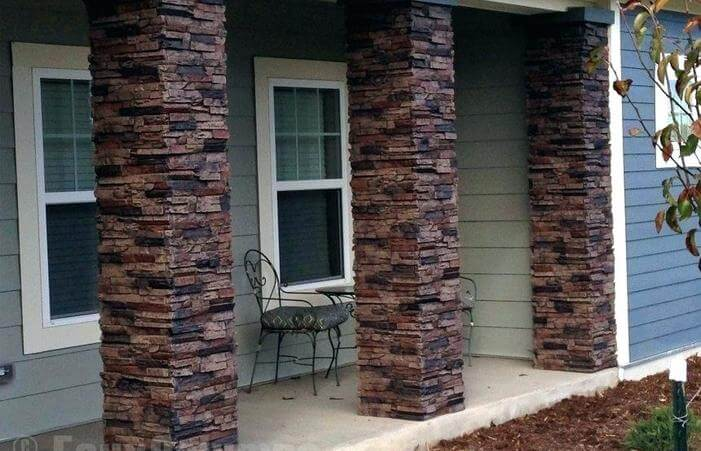 HOW TO BUILD PORCH COLUMN USING BRICK FOR NATURAL LOOKING PORCH