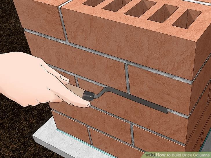 PORCH COLUMN BRICK BUILDING STEP BY STEP MAKE SMOOTH