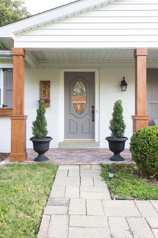 PORCH COLUMN MAKEOVER IDEAS BEEF IT UP AFTER