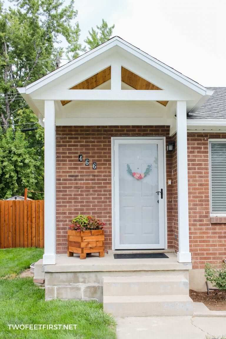 SIMPLE COVERING PORCH COLUMN MAKEOVER IDEAS AFTER