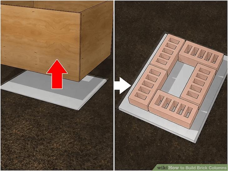 STEP BY STEP BUILD BRICK PORCH COLUMN