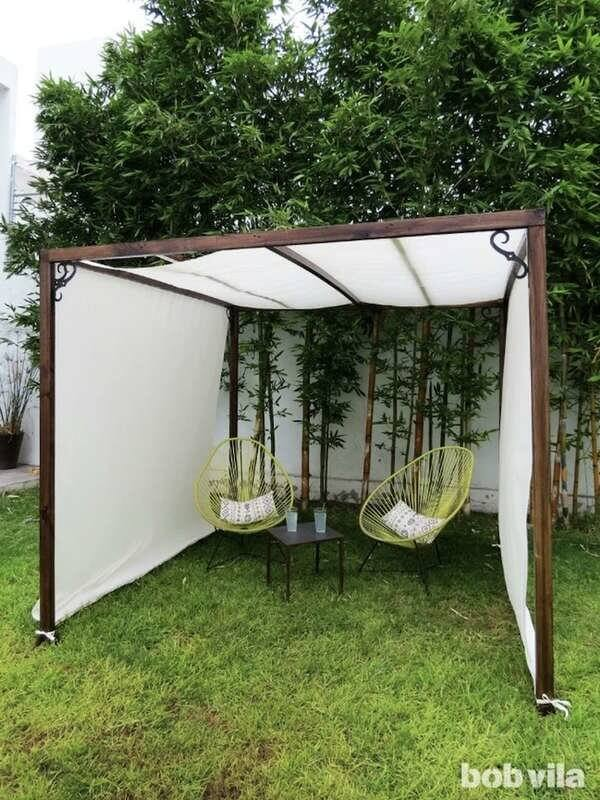 DIY CANOPY PORCH AWNING DESIGN IDEAS WITH MORE PRIVACY
