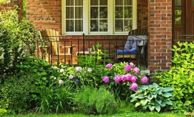 FRONT PORCH ADDITION IDEAS WITH CHAIR AND SMALL GARDEN DECORATION
