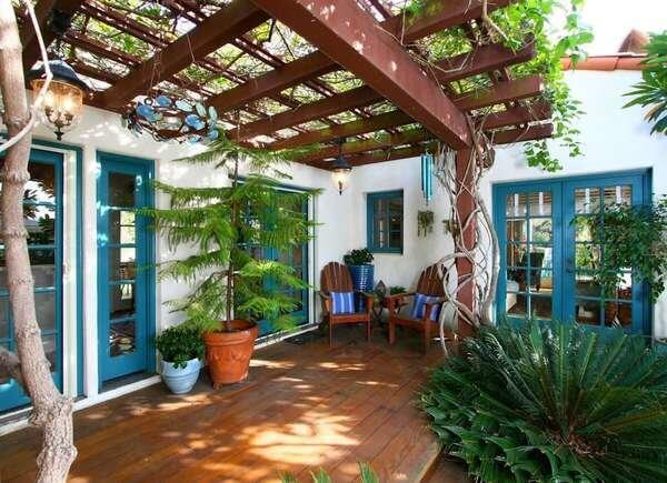 LATTICE PATIO DIY PORCH AWNING IDEAS WITH THE NATURE TO COVER