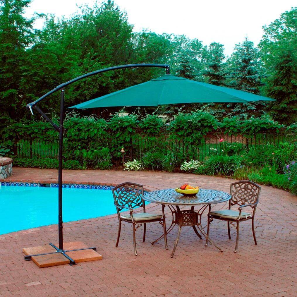 2 CHAIRS PATIO SET WITH UMBRELLA