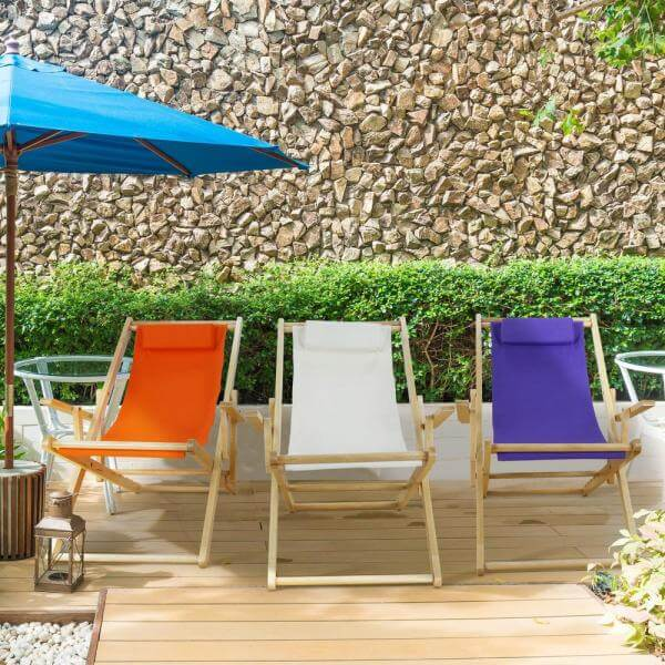 Bright colors patio sling chair replacement fabrics