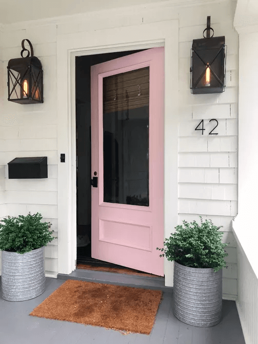 COLORFUL DOOR IDEAS FOR SMALL FRONT PORCH