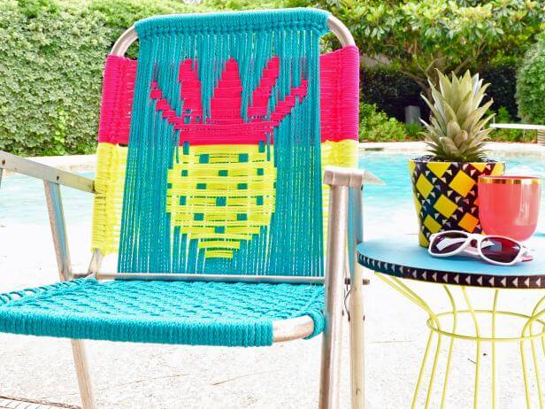 CRAFT CORD LAWN CHAIR IDEAS FOR PATIO DECORATION ON A BUDGET