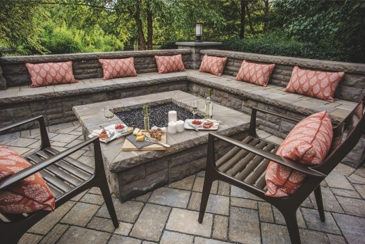 DEEP SEAT PATIO CUSHIONS IDEAS AND FIRE PIT SEAT WALLS