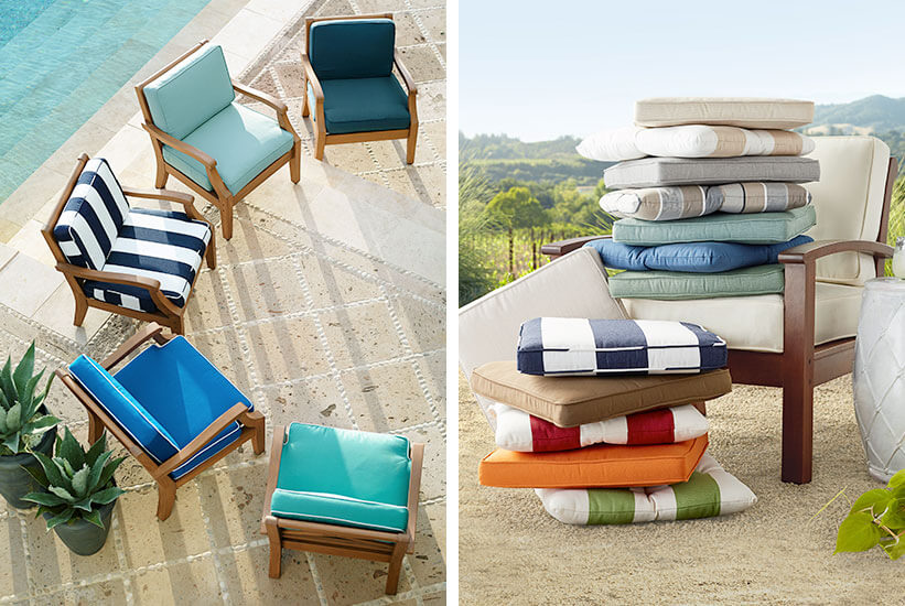 DEEP SEAT PATIO CUSHIONS WITH DIFFERENT COLOR
