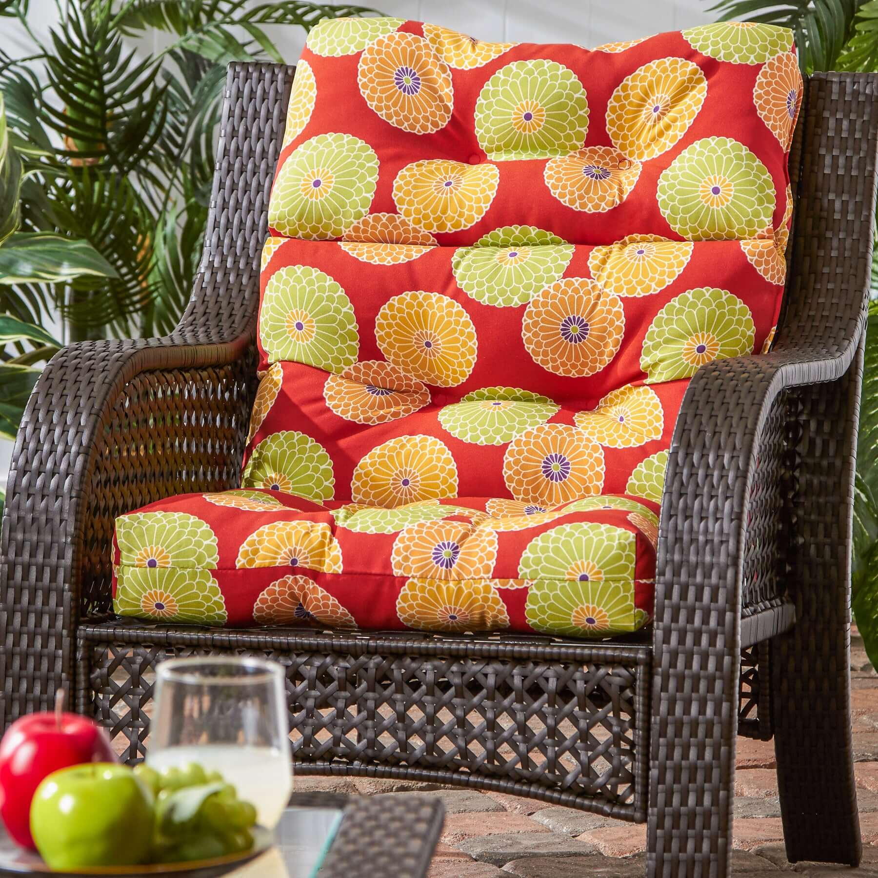 HIGH BACK PATIO CHAIR CUSHIONS WITH GOOD PATTERN