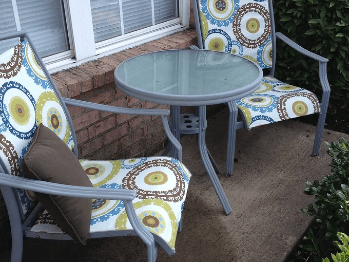 HIGH BACK PATIO CHAIR CUSHIONS WITH MIX PATTERN COLOR