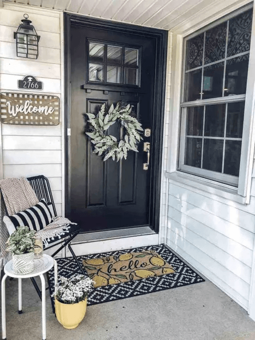 MAKE SMALL FRONT PORCH LOOK LARGE
