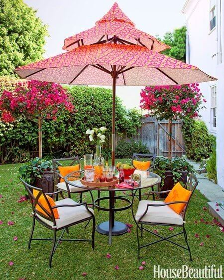 PATIO SET WITH LEVEL UP UMBRELLA IDEAS