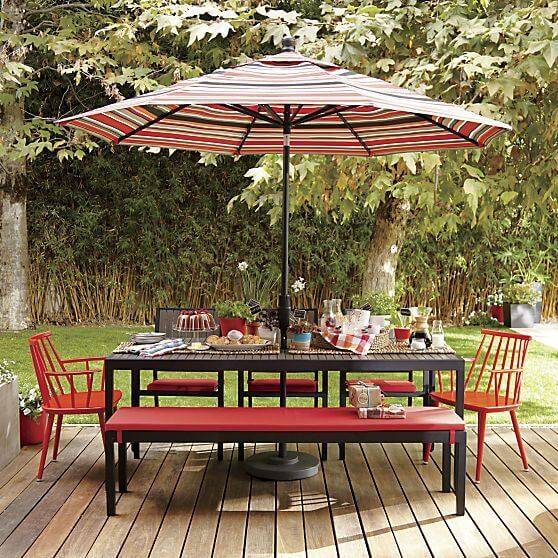 PATIO SET WITH MATCH COLOR UMBRELLA