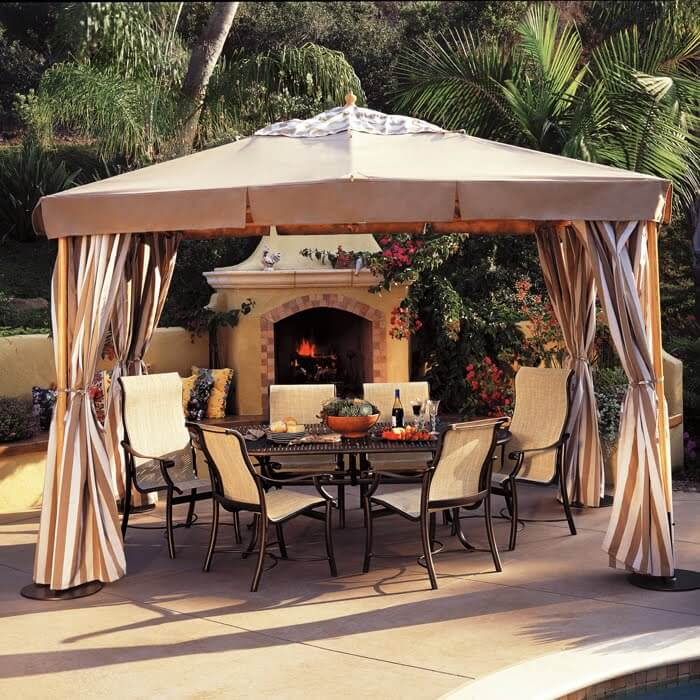 PATIO SET WITH UMBRELLA IDEAS CABANAS GARDEN PAVILLIONS