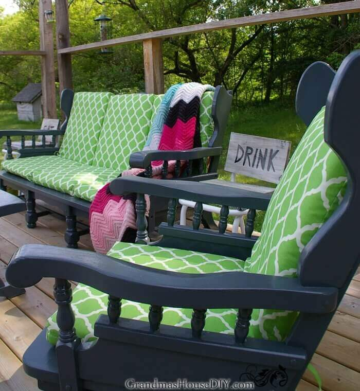 POPPING COLOR HIGH BACK PATIO CHAIR CUSHIONS