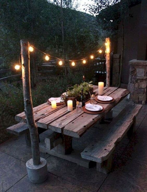 RUSTIC LIGHT HANGER IDEAS FOR PATIO DECOR ON A BUDGET