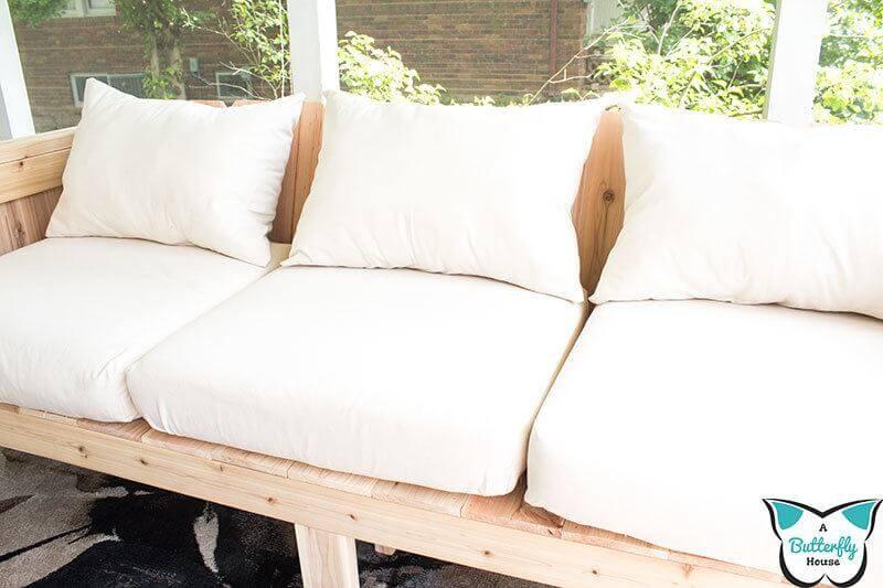 WHITE DEEP SEAT PATIO CUSHIONS
