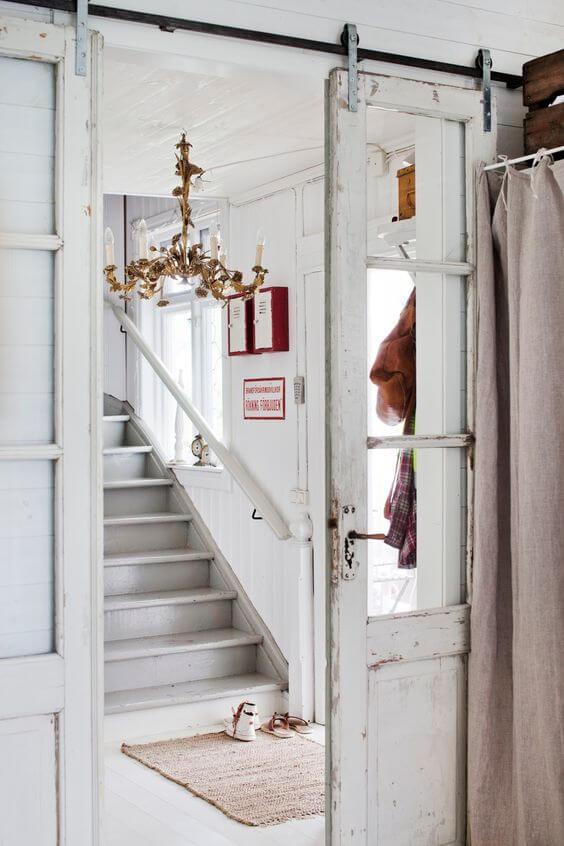 WHITEWASHED SLIDING DOORS IDEAS FOR PATIO