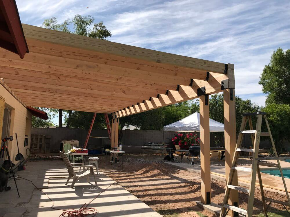 BUILDING THE FRAME PATIO COVER