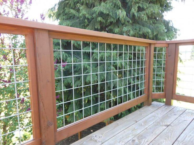 HOG WIRE DECK RAILING IDEAS