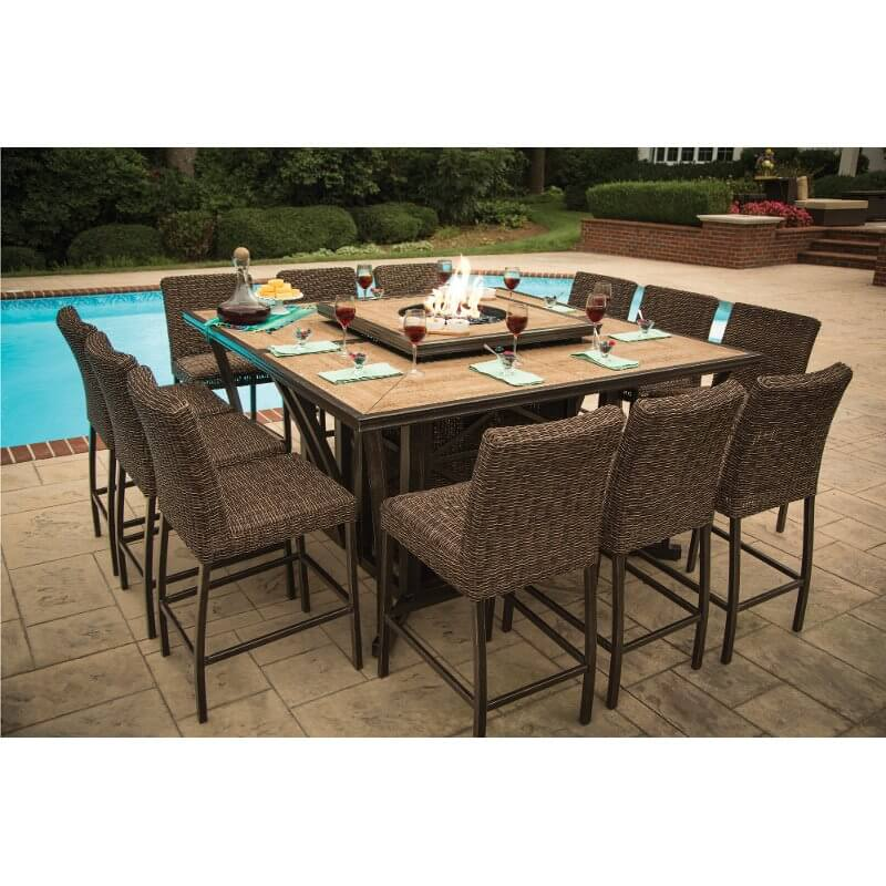 RC Willey 11 Piece Patio Set with Fire Pit