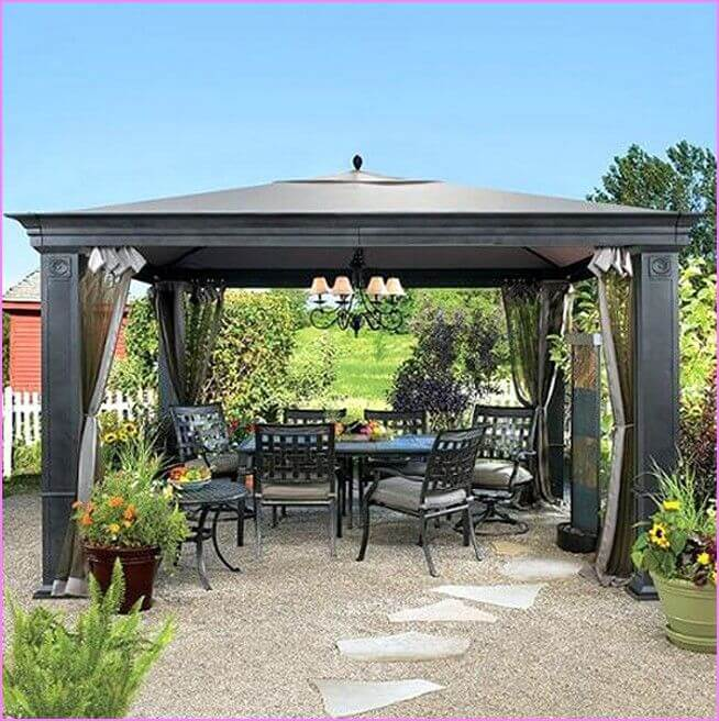 SUN SHADE FOR PATIO WITH CANOPY