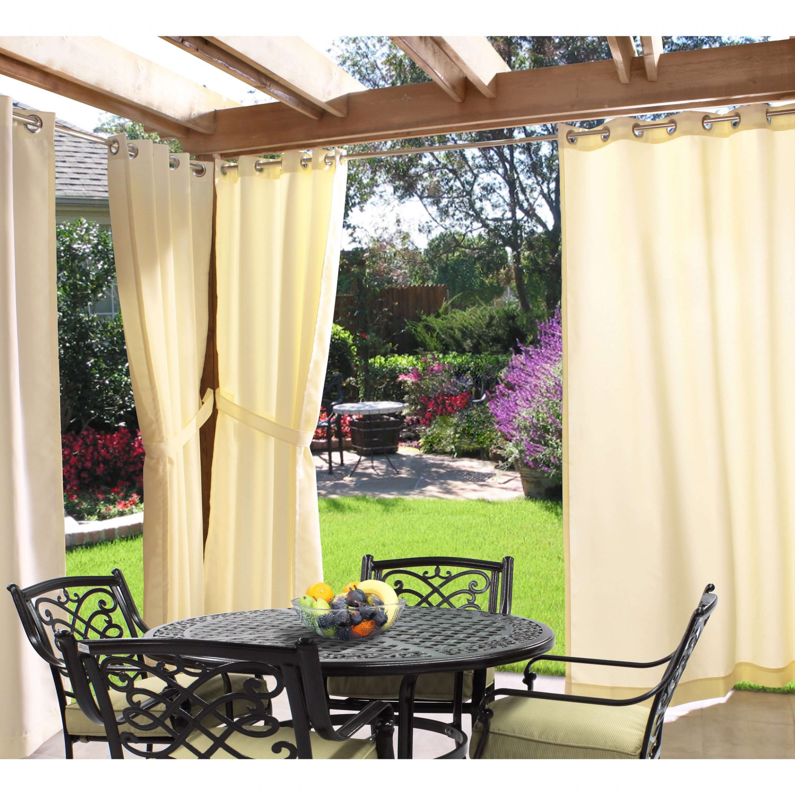 SUN SHADE FOR PATIO WITH CURTAINS