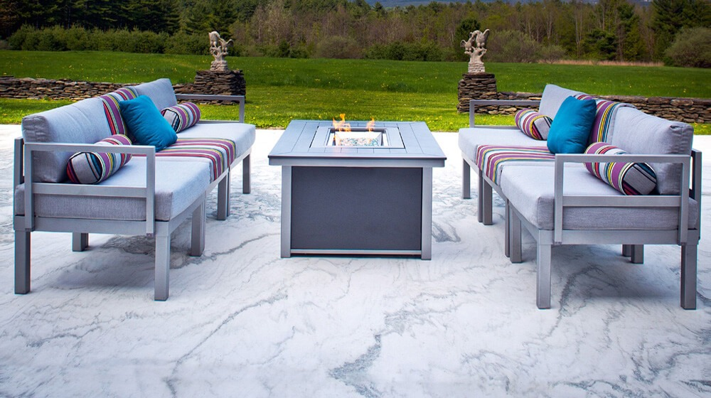 Telescope Casual Ashbe Patio Set with Fire Pit